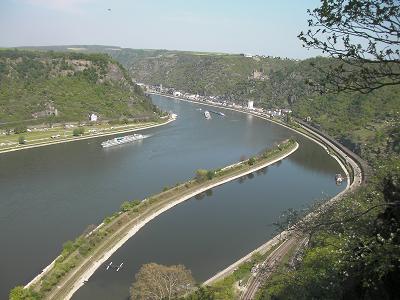 ドイツ ローレライの眺め